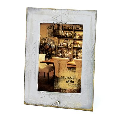 Etched Antiqued Photo Frame
