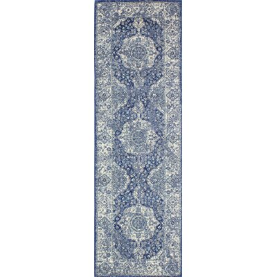 Dark Blue Area Rug Rug Size: Runner 26 x 8