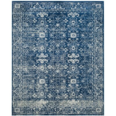 Peirce Blue/Beige Area Rug Rug Size: Square 6'7
