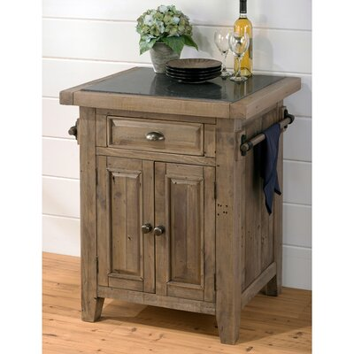 Saint-Andre Kitchen Cart with Granite Top