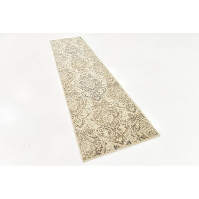 Pauley Beige Area Rug Rug Size: Runner 2' 6