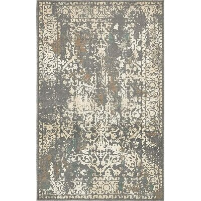 Pauley Gray Area Rug Rug Size: 5 x 8
