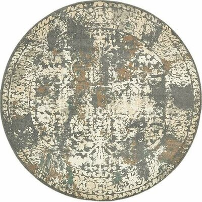 Forcalquier Area Rug Rug Size: Round 8