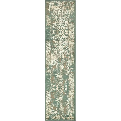 Pauley Green Area Rug Rug Size: Runner 2 6 x 10