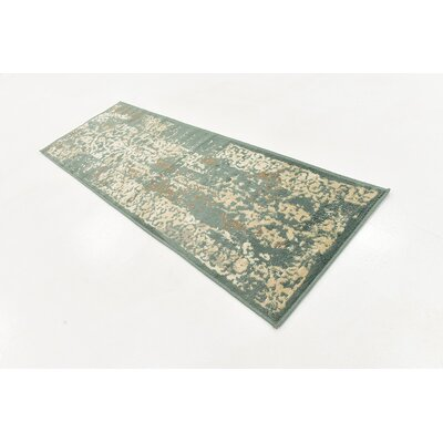 Forcalquier Green Area Rug Rug Size: Runner 2 x 6