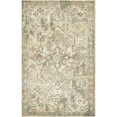Kentville Cream/Brown Area Rug Rug Size: Rectangle 5 x 8