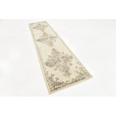 Pauley Cream Area Rug Rug Size: Runner 2 6 x 10