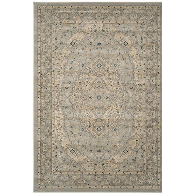 Montelimar Light Gray/Cream Area Rug Rug Size: 4 x 6