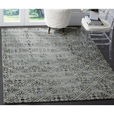 Edmeston Hand-Tufted Gray/Charcoal Area Rug Rug Size: 5 x 8