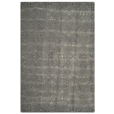 Edmeston Hand-Tufted Gray Wool Area Rug Rug Size: Rectangle 5 x 8