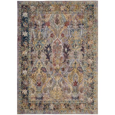 Miles Light Purple/Rose Area Rug Rug Size: 5 x 8