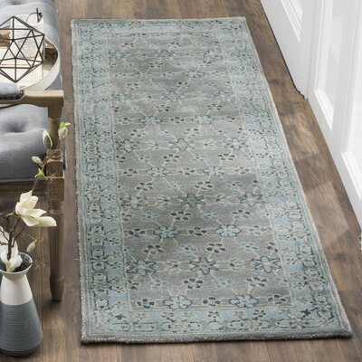 Dourdain Hand-Tufted Gray Area Rug Rug Size: Runner 2'3