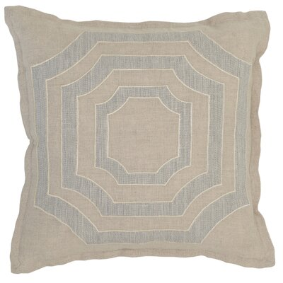 Lacordaire Linen Throw Pillow Color: Natural Gray