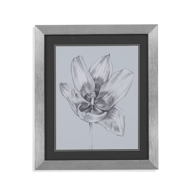 Silvery Blue Tulips II Framed Painting Print