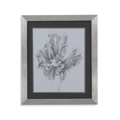 Silvery Blue Tulips III Framed Painting Print