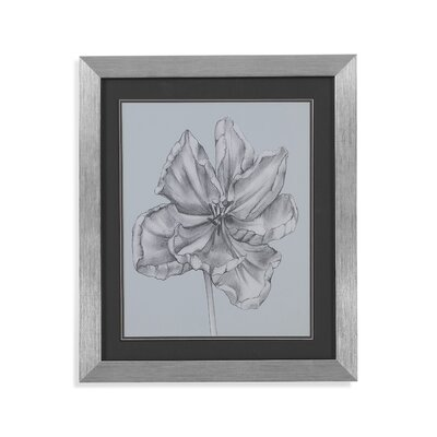 Silvery Blue Tulips IV Framed Painting Print