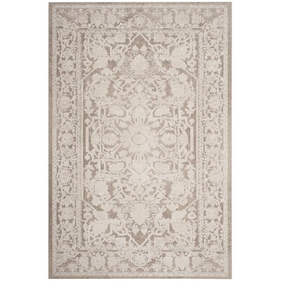 Pellot Dark Beige/Cream Area Rug Rug Size: Rectangle 4 x 6