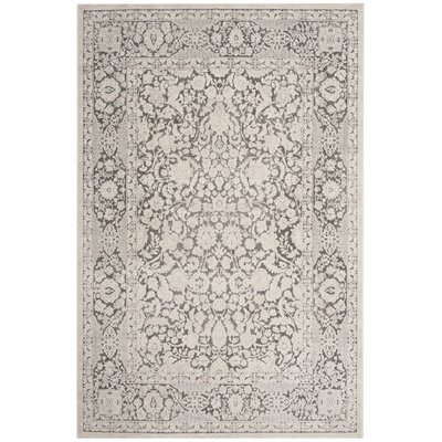 Pellot Dark Gray/Cream Area Rug Rug Size: Rectangle 4 x 6