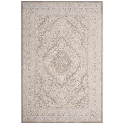 Pellot Beige/Cream Area Rug Rug Size: Rectangle 8 x 10