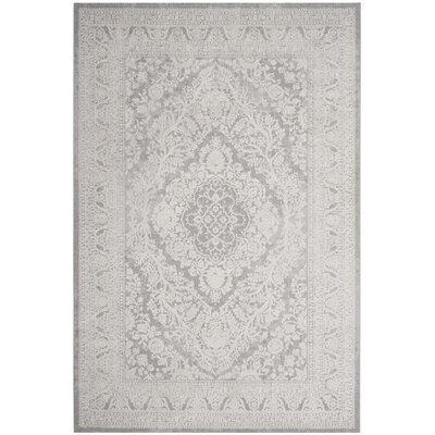 Pellot Light Gray/Cream Area Rug Rug Size: Rectangle 6 x 9