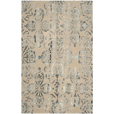 Edmeston Hand-Woven Camel/Gray Area Rug Rug Size: Rectangle 4 x 6