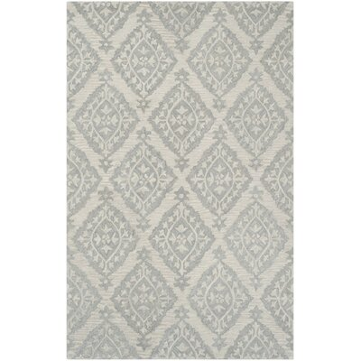 Peltz Hand-Tufted Gray Area Rug Rug Size: 2'6