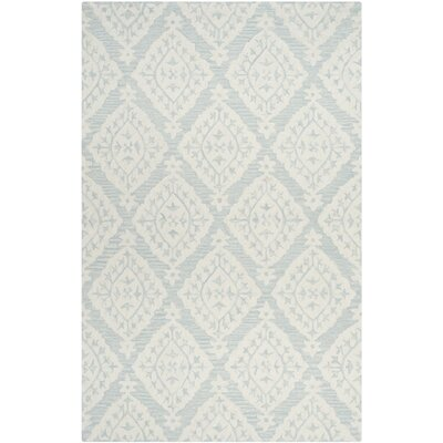 Peltz Hand-Tufted Blue/Gray Area Rug Rug Size: Square 5 x 5