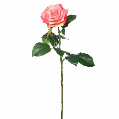 Real Touch Rose Stem Flower Color: Pink