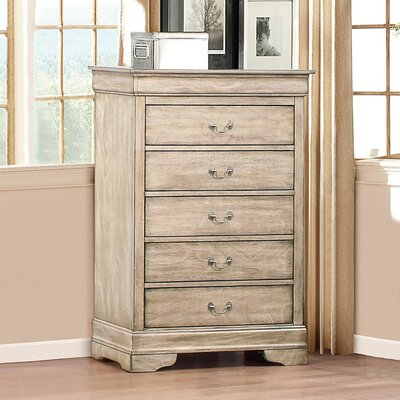 Corbeil 5 Drawer Chest Color: Driftwood