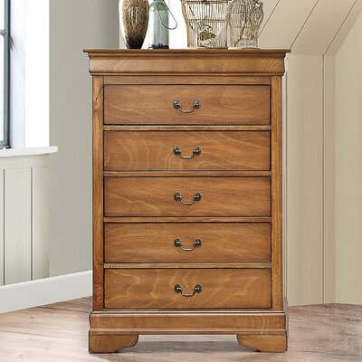 Corbeil 5 Drawer Chest Color: Light Walnut