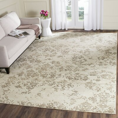 Valmer Stone Beige Area Rug Rug Size: Rectangle 33 x 57