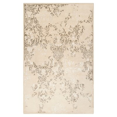 Melaney Hand Woven Winter White Area Rug Rug Size: Rectangle 33 x 53