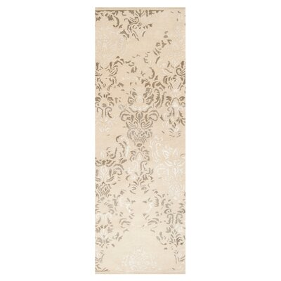 Melaney Hand Woven Winter White Area Rug Rug Size: Runner 26 x 8