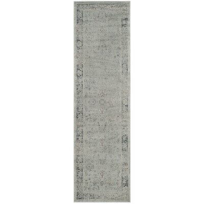 Malakoff Light Blue Area Rug Rug Size: Runner 22 x 8