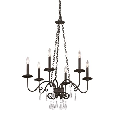 Erica 6-Light Candle Chandelier
