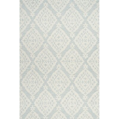 Peltz Hand-Tufted Light/Gray Blue Area Rug