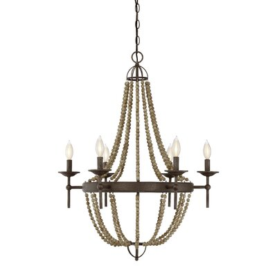 Pennington 6-Light Candle-Style Chandelier