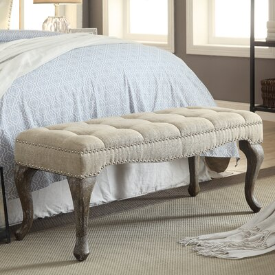 Elya Upholstered Bedroom Bench Upholstery Color: Natural