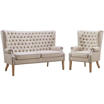 Lepore Linen Living Room Set Upholstery: Beige