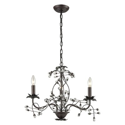 Isra Contemporary 3-Light Candle-Style Chandelier