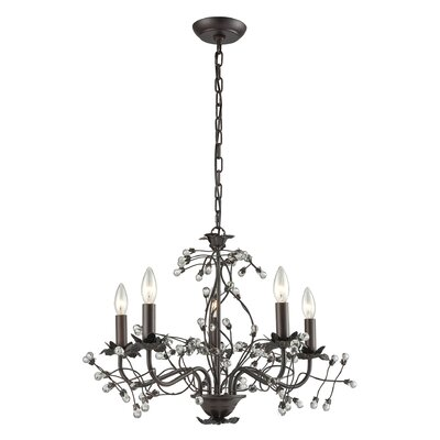 Charis�Contemporary 5-Light Candle-Style Chandelier