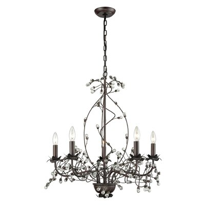 Charis�5-Light Candle-Style Chandelier