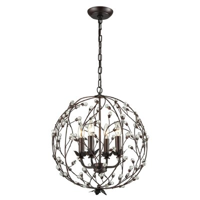 Isra 4-Light Globe Pendant