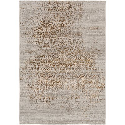 Chesler Floral and Plants Burnt Orange Area Rug Rug Size: 5 x 8