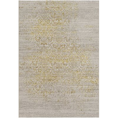 Chesler Yellow Area Rug Rug Size: Rectangle 8 x 10