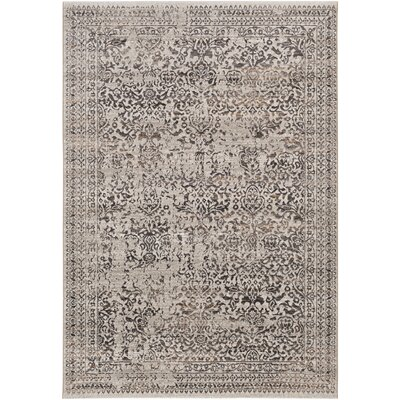 Chesler Floral and Plants Dark Brown Area Rug Rug Size: Rectangle 5 x 8