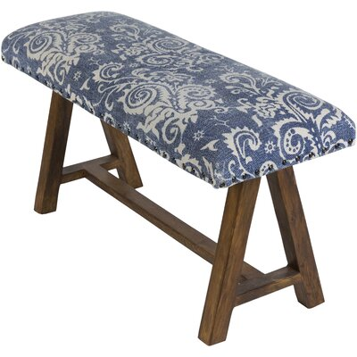 Penwell Upholstered Bedroom Bench Upholstery: Blue
