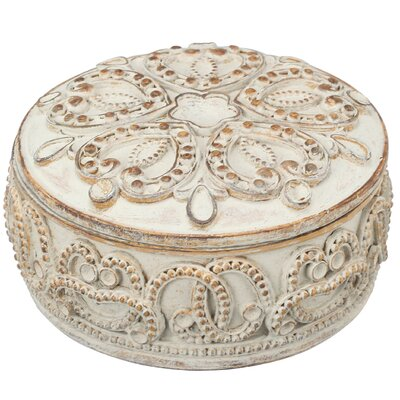 Round Cream Decorative Container