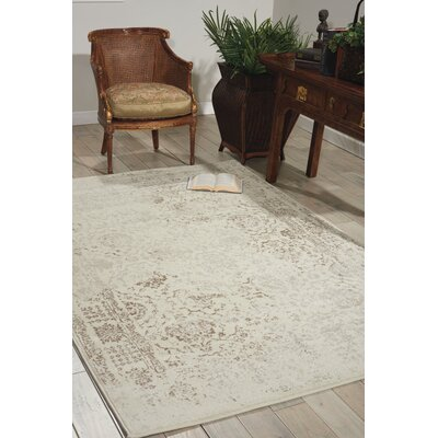 Orme Ivory Area Rug Rug Size: 53 x 76