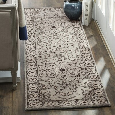 Albert Brook Hand-Tufted Gray/Beige Area Rug COLOR: Grey / Beige, Rug Size: Square 6